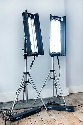 Bron Fluorescent Continuous Lighting kit like Kino Flo + Manfrotto stands