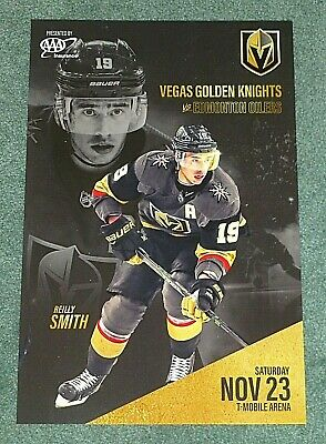 Vegas Golden Knights Poster Program Reilly Smith 11/23/19 vs. Edmonton Oilers