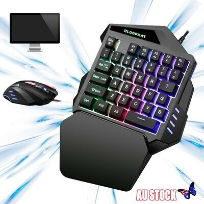 Gaming Keyboard And Mouse Set Wired USB for PS4 PC Xbox One Gamer Backlight AU
