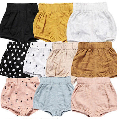 Infant Baby Boy Girl Kid Cotton Shorts Pants Bottom Outfits Bloomer Nappy Cover
