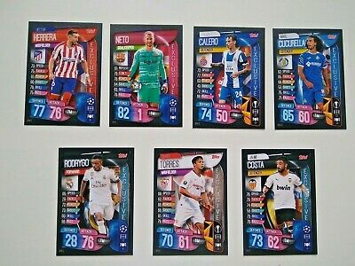 Exclusive Cards Spain 2019 2020 Topps Match Attax Uefa Champions League 19 20