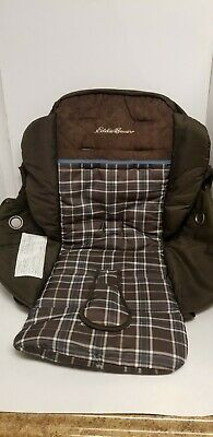 Eddie  Bauer Single Stroller Brown Fabric Seat Cover Replacement Padding.