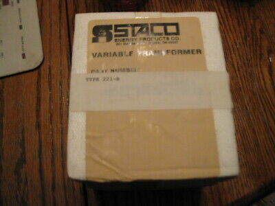 Staco 221-B Variable Transformer * New In Box *