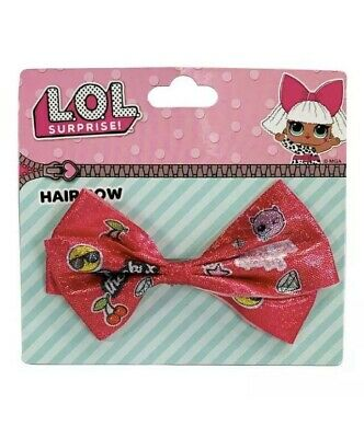LOL Pink Glitter Surprise Hair Bow Clip JoJo Sparkly Genuine Official Lol L.O.L
