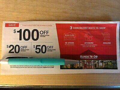 Blinds To Go Discount $20/ $50/ $100 Off New Orders Exp 1/31/20 FreeShipping