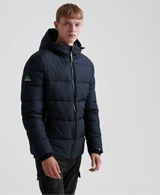 SUPERDRY MENS PUFFER Sports Jacket Ink Blue Quilted