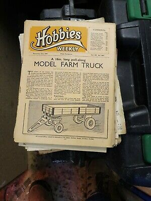 Joblot of Vintage Hobbies Weekly Magazines from the 1950's no plan sheets
