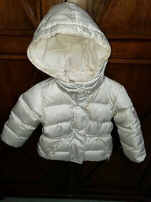BABY GAP Girls Size 18-24 months Jacket Puffer Coat  WITH HOOD LINED