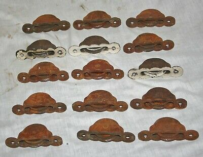 Lot Of 15 Antique Window Weight Pulleys
