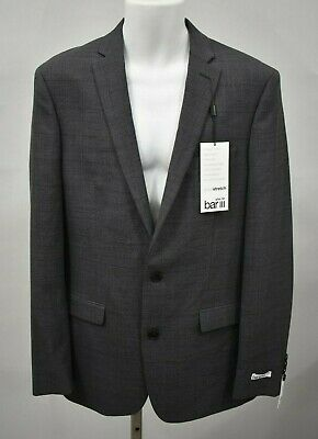 BAR III Slim Fit Active Stretch Size 40L Grey 2-Button Blazer