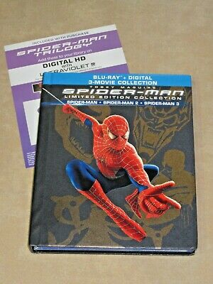 Spider-Man Trilogy 3 Movies Collection Digital HD Movie Code For Canada No Discs