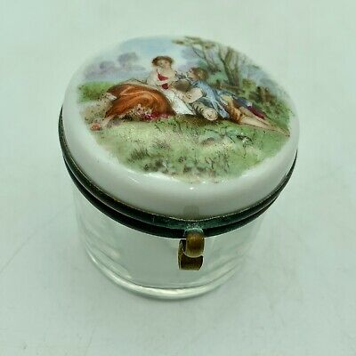 Antique French Porcelain Ring Box circa 1875