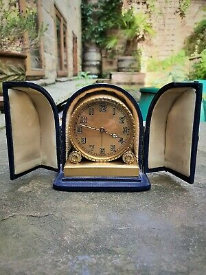 Superb Quality Zenith Alarm Clock With Case - Perfect Working Order - Vg Cond