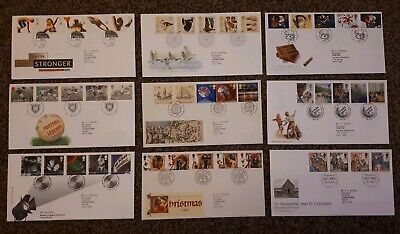 Royal Mail Selection Of 9 First Day Covers