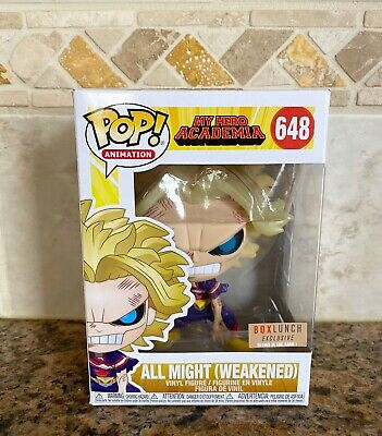 Funko Pop! All Might Weakened GITD Boxlunch Exclusive MHA In Hand + Protector
