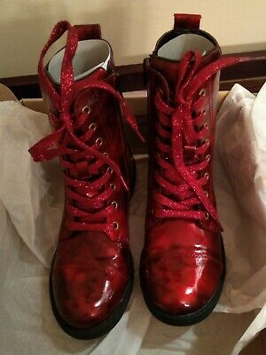 Girls Boutique UMi Red Patent Boots Winter boots Size 33 EU 1.5 US BNIB