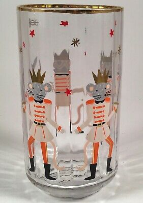 Anthropologie Rifle Paper Co Nutcracker Juice Glass ~ The Mouse King ~ Holiday