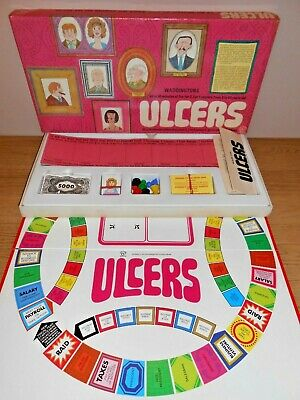 ULCERS - Classic Board Game 100% COMPLETE WITH INSTRUCTIONS