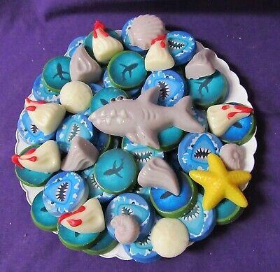 Shark teeth fins chocolates tray