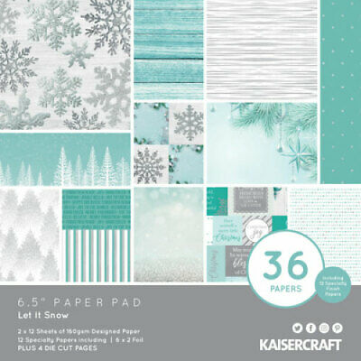 "KAISERCRAFT Scrapbooking Paper Pads - 6.5"" - Let It Snow - PP1074"