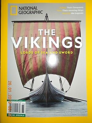 THE VIKINGS lords of the sea & sword NATIONAL GEOGRAPHIC time special NO LABEL