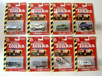 1999 Diecast Collection Tonka Series 1 by Maisto 1:64 Lot of 8 Cars and Trucks
