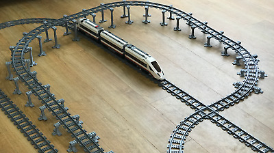 works with 60051 60052 7938 60197 Lego City compatible train set track supports