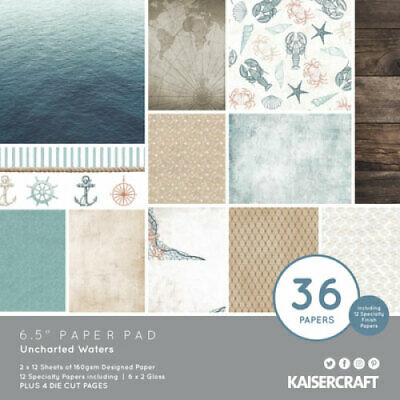 "KAISERCRAFT Scrapbooking Paper Pads - 6.5"" - Unchartered Waters - PP1079"