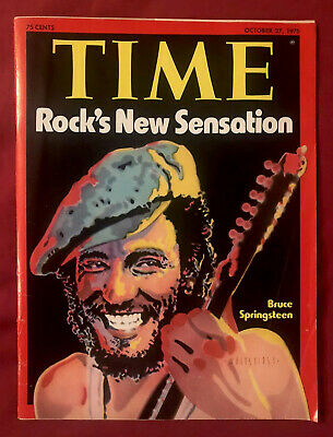 Time Magazine October 27, 1975 Bruce Springsteen The Boss NEWSSTAND No Label