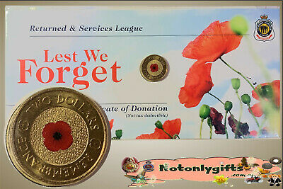 2012 $2 Red Poppy 'Lest We Forget' on RSL. Card