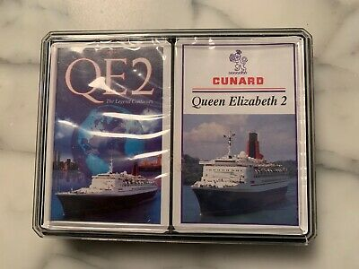2 decks QE2 Playing Cards New in original packaging Queen Elizabeth II CUNARD