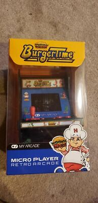 BURGERTIME My ARCADE Game Micro Player Retro Arcade TESTED AND WORKING!