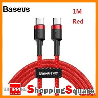 1M Baseus USB Type-C to Type-C Charger Data M-M Cable  PD & QC Fast Charging