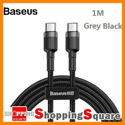 1M Baseus USB Type-C to Type-C Charger Data M-M Cable Support PD & QC Fast Cha