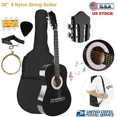 "38"" Beginners Acoustic Guitar With Guitar Case, Strap, Tuner & Pick  Kids Gift"