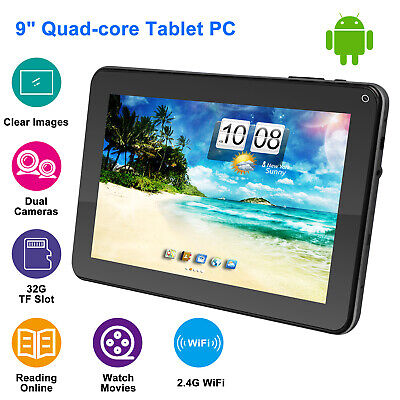 Quad Core 9 Inch Kids Tablet PC Android Dual Camera HD WiFi 8GB Bundle Keyboard