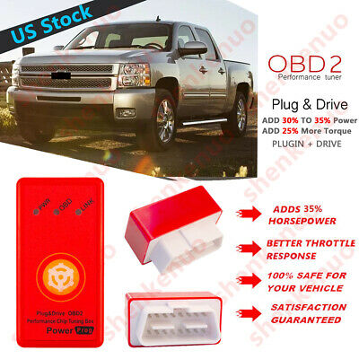 FOR CHEVY SILVERADO 4.3 5.3 6.0 6.2 Z71 HD OBD2 POWER PERFORMANCE CHIP SAVE GAS