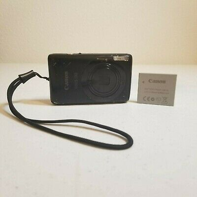Canon Powershot SD1400 IS 14.1MP Digital Camera - Black W/ Battery Untested