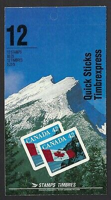 Canada BK141a: 12 x 42c Quick Stick Mountain at right Booklet, Scott 1388, VF-NH