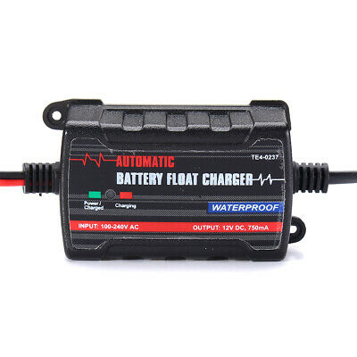 Battery Charger Maintainer Trickle RV Car Truck Motorcycle Waterproof Automatic