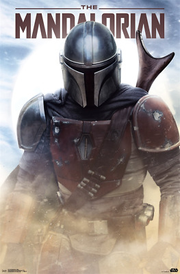 The Mandalorian TV Poster Print Decor 18x12 30x20 36x24""