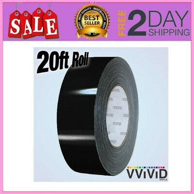 VViViD Black Gloss Air-Release Adhesive Vinyl Tape Roll 1//2 x 20ft