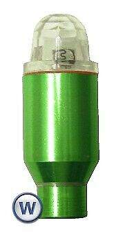Valve Caps Plastic Wheelflea Multicolour Green Case (Pair)