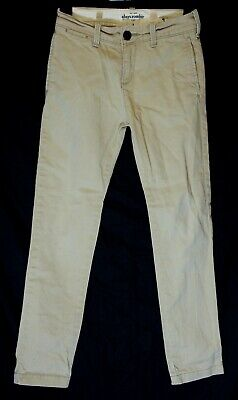 Boys Abercrombie Light Stone Beige Denim Classic Fit Smart Jeans Age 8 Years
