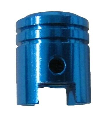 Valve Cap Piston Shape Blue (Pair)