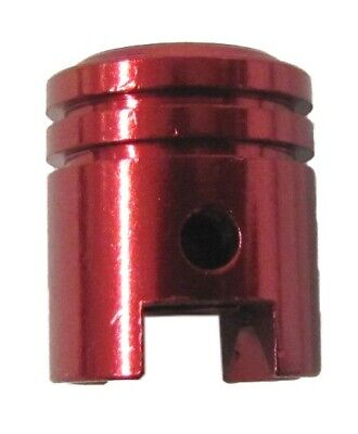 Valve Cap Piston Shape Red (Pair)