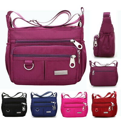 Waterproof Women Ladies Multi Pocket Messenger Handbag Cross Body Shoulder Bag
