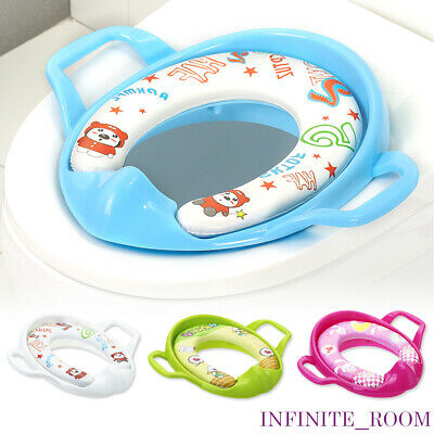 Baby Soft Padded Potty Training Toilet Seat With Handles Kids Toddler Potty UK