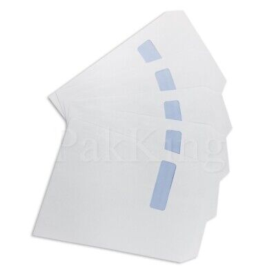 Any Qty C4 (324x229mm) WHITE WINDOWED PAPER ENVELOPES 90gsm Self Seal Office