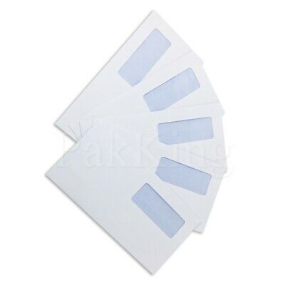 Any Qty DL (110x220mm) WHITE WINDOWED PAPER ENVELOPES 90gsm Self Seal Office
